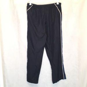 Nike Pants - Nike XL Track Pants Navy Blue White Striped Mens